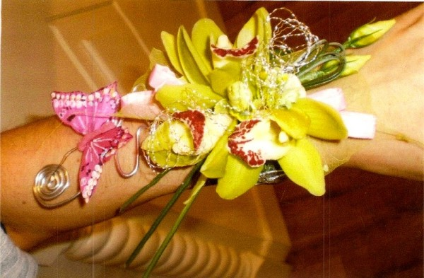 Bridal Corsage created specially for you by Flowers by Hughes Florist Shop, Monaghan Town, Ireland